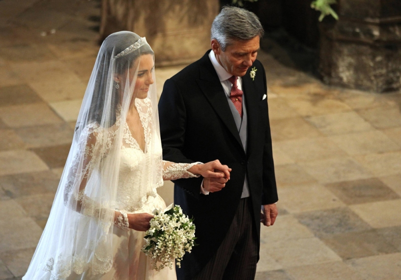 Kate Walking Down The Aisle With Her Father